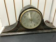 Antique Gilbert Mantle Clock 1807 Tambour Electric Vintage Collectible Wood