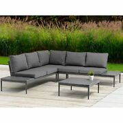 Shade Indoor / Outdoor Sectional With Coffee Table Taiwanese Olifen Cushions...