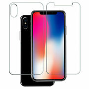 For Iphone X 8 7 9h Front+back Premium Tempered Glass Screen Protector Film Lot