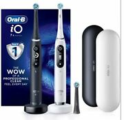 Oral-b Io Series 7s Electric Toothbrush, Black And White Alabaster 2 Pk.sale