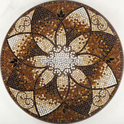 Marble Dining Top Table Collectible Mosaic Inlay Cubes Furniture Decorate H3923