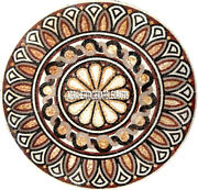 Marvelous Marble Side Coffee Table Rare Mosaic Inlay Garden Outdoor Decor H3899