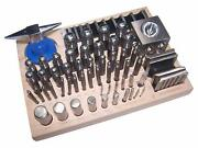 56pc Jumbo Doming Block Swage Punch Set Made Of Steel Dapping Die Jewellers Tool