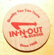 26 Vintage In-n-out Burger Double Double Animal Style Wooden Nickels - Tokens