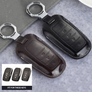 For Toyota Part Real Leather Car Styling Key Fob Case Cover Holder Keychain Skin