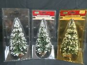 Lot 3 Lemax Village Collection 9 Evergreen Tree Accessories He435
