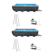 Intex 18ft X 9ft X 52in Ultra Xtr Frame Swimming Pool Set And Pump Filter 2 Pack