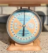 Vintage Scale American Family Nursery Scale Baby Blue And Peach Good Condition