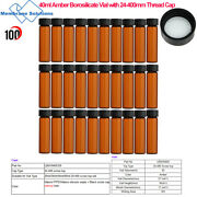 Sample Vial 40mllab Bottle Amber24-400mm Screw Top Thread Cap For Oils Perfume