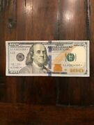 100 One Hundred Dollar Bill 2009a Star Note Serial Number Ll03914300