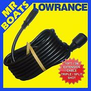 Lowrance 000-14414-001 Extension Cable 10and039 Hook2 Split/triple