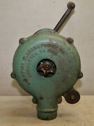 Antique Champion Blower And Forge Co Hand Crank Air Cast Iron Blacksmith Tool