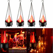 4pcs Electronic Artificial 3d Led Hanging Light Fake Fire Flame Effect Lamp