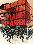 A German Collectable Iconic Film Poster Planet Of The Apes 1972 German