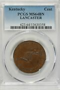 1792-1794 .o1 Pcgs Ms62bn Kentucky Lancaster 1700and039s Colonial Coins