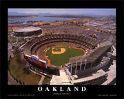 Oakland Alameda Coliseum Oakland A's 22 X 28 Aerial Print By Mike Smith