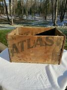 Vintage Wooden Beer Crate Atlas Prager Brewing Chicago Illinois Wood Brewery Box