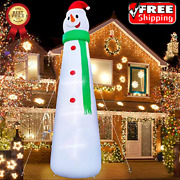 Inflatable Giant Snowman 12 Ft Christmas Decoration With Led Light Ties Yard