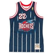 Houston Rockets Clyde Drexler 22 Mitchell And Ness Navy 1996-97 Authentic Jersey