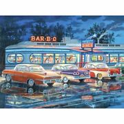 Diamond Painting Bbq Diner Shop Design Embroidery House Portrait Wall Decoration
