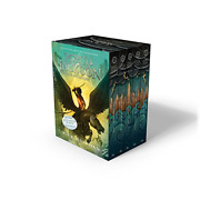 Percy Jackson And The Olympians 5 Book Paperback Boxed Set New Covers W/poster And