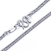 Real Pt950 Pure Platinum 950 Necklace For Man Women 2.5mm Wheat Chain 29.5and039and039l