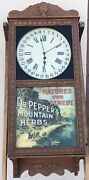 Vintage Dr Pepper's Herbs Saint Charles Wall Regulator Clock Natures Own Remedy