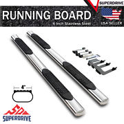Fits 2007-2018 Chevy Silverado Extended Cab 4 Oval Running Board Step Nerf Bar