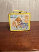 Vintage 1985 Metal Yellow Care Bear Cousins Care Bears Lunch Box And Thermos