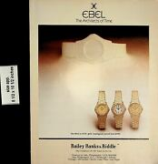 1983 Ebel Watches Bailey Banks And Biddle Vintage Print Ad 7102