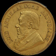 South Africa 1898 Gold Pond Km 10.2 Pcgs Ms64