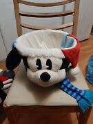 Disney Mickey Mouse Head Christmas Basket With Ears Plush Large Hard To Find