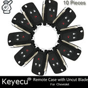 10pcs For Chevrolet Spark 2012-2016 Remote Key Shell Case Fob A2gm3afus03