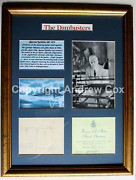 The Dam Busters Barnes Wallis 1946 Signed Original Drawing Of The Bouncing Bomb