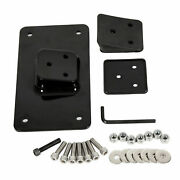 3 Holes Laydown License Plate Mounting Bracket For Harley Sportster Dyna Softail