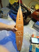 Vintage Wood Rochette Toy Consolidated Sailboat Pond Boat 21 Long