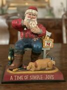Midwest Cannon Falls Pam Schifferl Large Santa Carving A Toy Christmas Figure