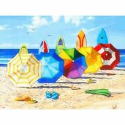 Diamond Painting Surf Board And Beach Umbrella Design Wall Embroidery Decoration