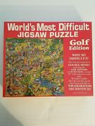 World's Most Difficult Jigsaw Puzzle Golf Edition Vintage 1991 529 Pieces