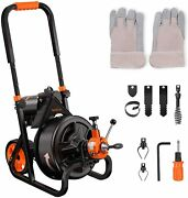 Tacklife Drain Cleaner Machine 75 Ft X 1/2 Inch Electric Drain Auger Autofeed