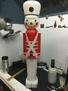 Toy Soldier 3and039 Blow Mold Nutcracker Christmas Yard Decoration Lighted