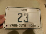 1960 Yarmouth Ontario Taxi License Plate Free Shipping