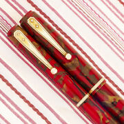 Vintage Watermanand039s Ideal 92 Ruby Red Wine Gold Marble Fountain Pen Pencil Set