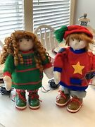 Vintage Christmas Animated Dolls Rare Sings And Moves