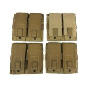 4 Specter Gear Mag Pouch, Military Double 2x2 Magazine Coyote Brown Usmc