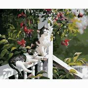Diamond Painting Diy Cat Lodging In The Porch Design Embroidery House Decoration