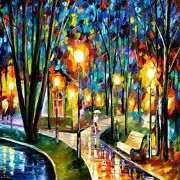 Street Path Walk Diamond Painting Abstract Style Design House Embroidery Display