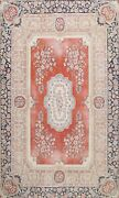 Floral Semi Antique Handmade Traditional Area Rug Dining Room Oriental Wool 8x11