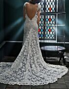Olviand039s Ivory Lace Wedding Dress 2294 Size 4 Brand New Never Altered Or Worn