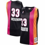 Miami Heat Alonzo Mourning 33 Mitchell And Ness Hardwood 2005-06 Authentic Jersey